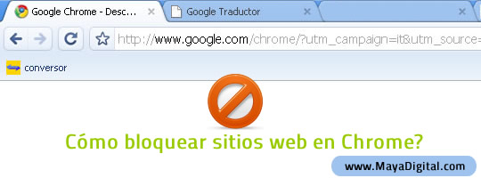Como bloquear paginas web en Google Chrome